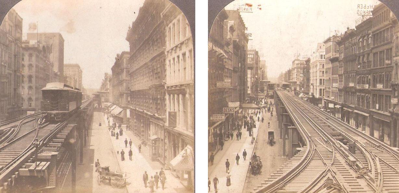 VAN BUREN STREET AND ELEVATED RAILROAD. CHICAGO, Principios del S.XX